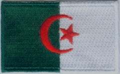 "Algeria Flag Patch 1.5"" x 2.5"""