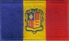"Andorra Flag Patch 1.5"" x 2.5"""