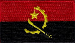 "Angola Flag Patch 1.5"" x 2.5"""
