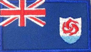 "Anguilla Flag Patch 1.5"" x 2.5"""