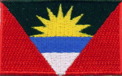 "Antigua and Barbuda Flag Patch 1.5"" x 2.5"""