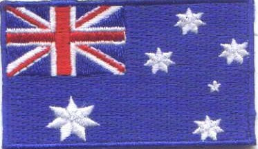 "Australia Flag Patch 1.5"" x 2.5"""
