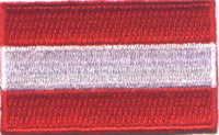 "Austria Flag Patch 1.5"" x 2.5"""