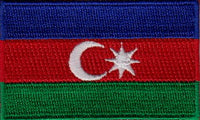 "Azerbaijan Flag Patch 1.5"" x 2.5"""