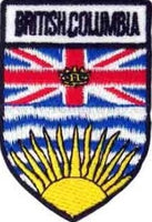 "British Columbia Shield Patch 2.5"" x 1.5"""