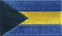 "Bahamas (The) Flag Patch 1.5"" x 2.5"""