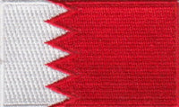 "Bahrain Flag Patch 1.5"" x 2.5"""