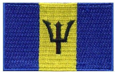 "Barbados Flag Patch 1.5"" x 2.5"""