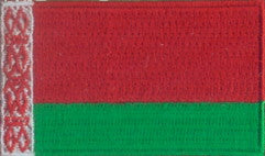 "Belarus Flag Patch 1.5"" x 2.5"""