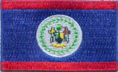 "Belize Flag Patch 1.5"" x 2.5"""