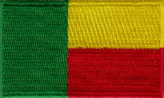 "Benin Flag Patch 1.5"" x 2.5"""