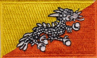 "Bhutan Flag Patch 1.5"" x 2.5"""