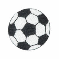 "Black Soccer Ball / Football Patch 1.5"" Iron on"