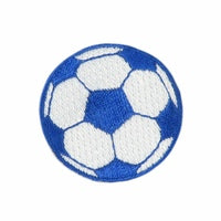 "Blue Soccer Ball / Football Patch 1.5"" Iron on"