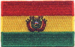 "Bolivia Flag Patch 1.5"" x 2.5"""