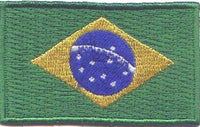 "Brazil Flag Patch 1.5"" x 2.5"""