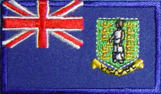 "British Virgin Islands Flag Patch 1.5"" x 2.5"""