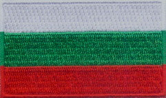 "Bulgaria Flag Patch 1.5"" x 2.5"""