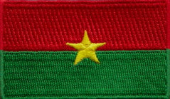 "Burkina Faso Flag Patch 1.5"" x 2.5"""