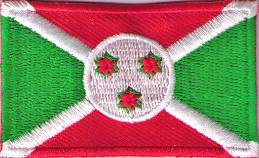 "Burundi Flag Patch 1.5"" x 2.5"""