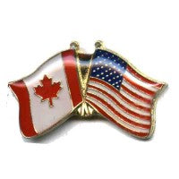 Canada / United States USA Friendship Flag Lapel / Hat Pin