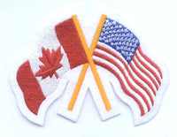 "Canada / United States USA Friendship Flag Patch 3.25"" x 4.25"""