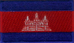 "Cambodia Flag Patch 1.5"" x 2.5"""