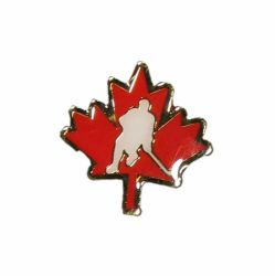 Canadian Hockey Maple Leaf Lapel / Hat Pin 1""