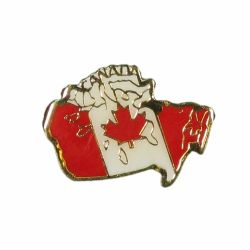 Canada Flag Country Map Design Lapel / Hat Pin