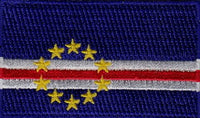 "Cape Verde Flag Patch 1.5"" x 2.5"""