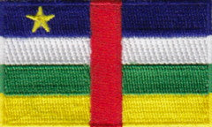 "Central African Republic Flag Patch 1.5"" x 2.5"""