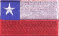 "Chile Flag Patch 1.5"" x 2.5"""