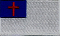 "Christian / Christianity Flag Patch 1.5"" x 2.5"""