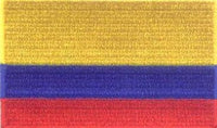 "Colombia Flag Patch 1.5"" x 2.5"""