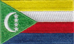 "Comoros Flag Patch 1.5"" x 2.5"""