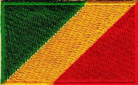"Congo (Republic of) Brazzaville Flag Patch 1.5"" x 2.5"""