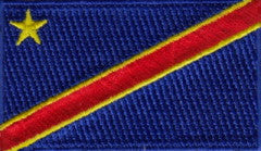 "Congo (Democractic Republic of) Kinshasha Flag Patch 1.5"" x 2.5"""