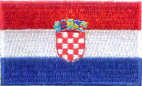 "Croatia Flag Patch 1.5"" x 2.5"""