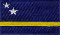 "Curaçao Flag Patch 1.5"" x 2.5"""