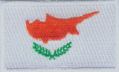 "Cyprus Flag Patch 1.5"" x 2.5"""