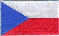 "Czech Republic Flag Patch 1.5"" x 2.5"""
