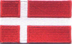 "Denmark Flag Patch 1.5"" x 2.5"""