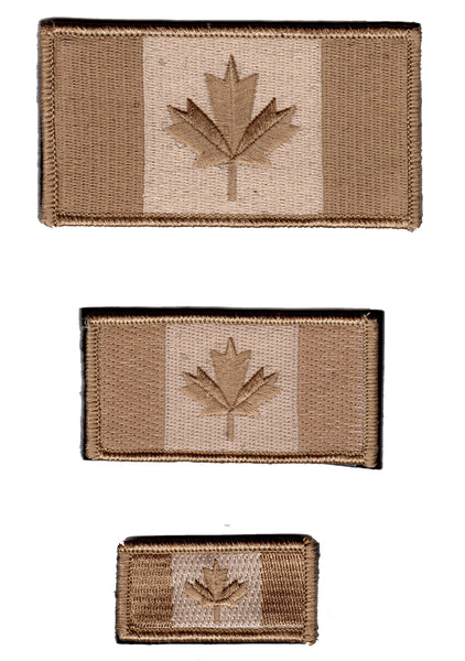 Canada Flag Patch Tan / Arid Sand / Desert Subdued Design