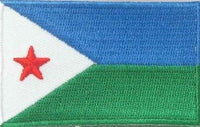 "Djibouti Flag Patch 1.5"" x 2.5"""