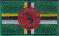 "Dominica Flag Patch 1.5"" x 2.5"""