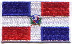 "Dominican Republic Flag Patch 1.5"" x 2.5"""