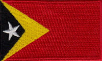 "East Timor Flag Patch 1.5"" x 2.5"""