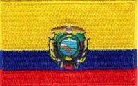 "Ecuador Flag Patch 1.5"" x 2.5"""