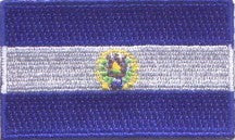 "El Salvador Flag Patch 1.5"" x 2.5"""