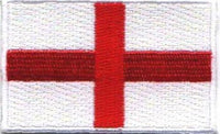 "England / St. George's Cross Flag Patch 1.5"" x 2.5"""